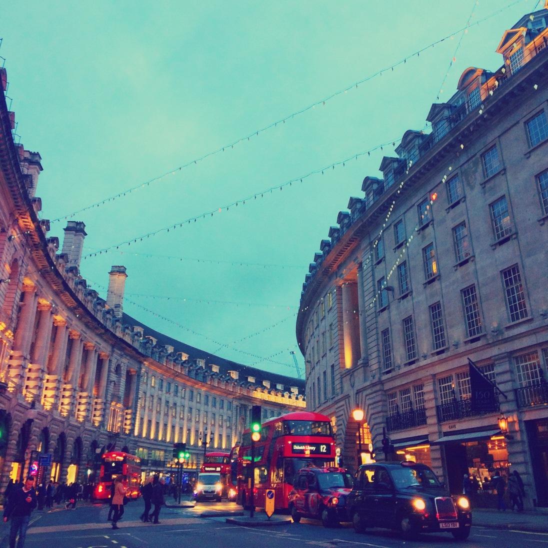 Regent Street in the evening