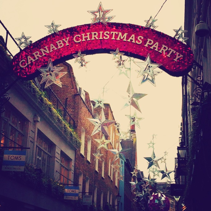 Christmas decorations at Carnaby Street